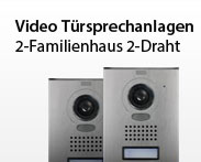 Video Tüsprechanlage 2-Familienhaus 2-Draht
