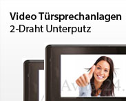 Video Tüsprechanlage 2-Draht Unterputz