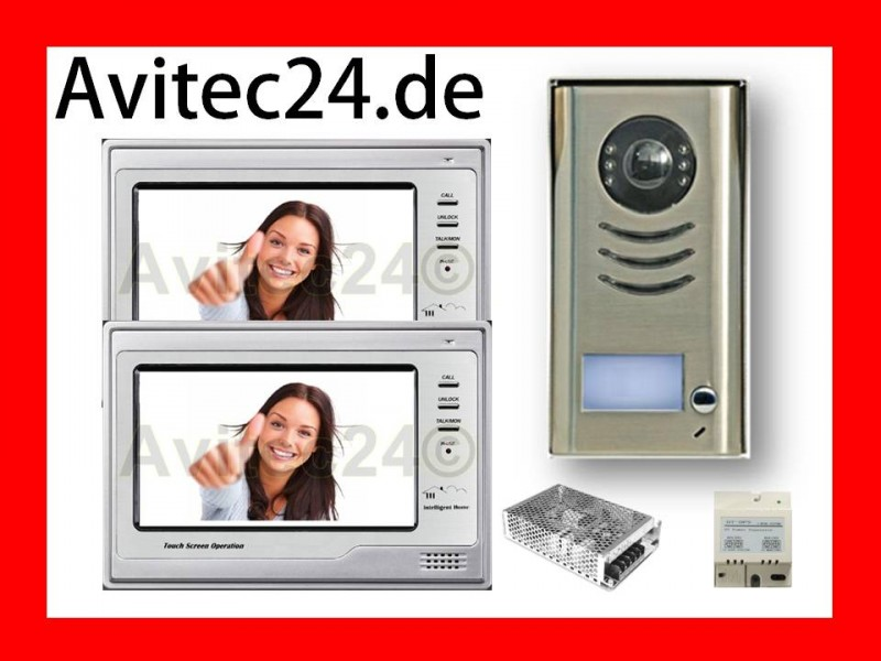 2 draht 2x 7 tft dt692 t dt591 video t rsprechanlage touchscreen klingel. Black Bedroom Furniture Sets. Home Design Ideas