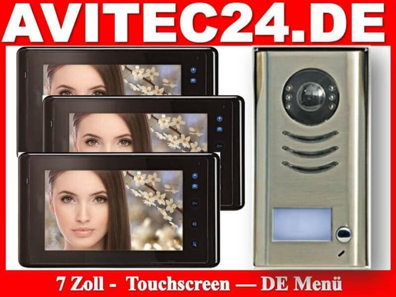 video t rsprechanlage dt591 3x dt27b sony ccd mit touchscreen. Black Bedroom Furniture Sets. Home Design Ideas
