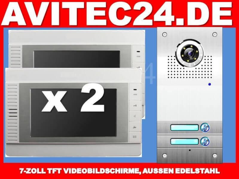 t rsprechanlage sprechanlage 2 familien mit 2x7 monitor vt562 2xvt32. Black Bedroom Furniture Sets. Home Design Ideas