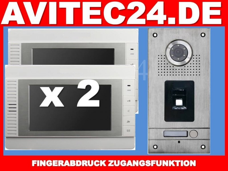 fingerprint video t rsprechanlage vt56 2x vt32. Black Bedroom Furniture Sets. Home Design Ideas