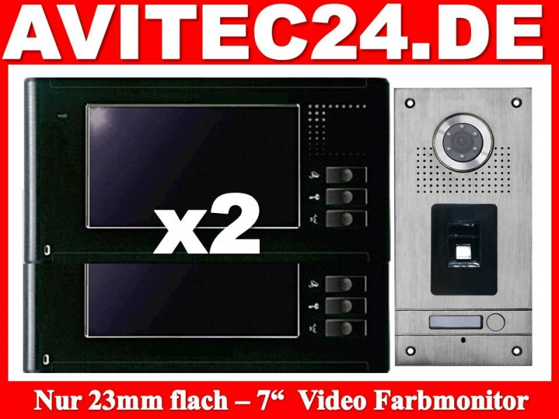 video t rsprechanlage fingerprint fingerabdruck vt56 2xvt337. Black Bedroom Furniture Sets. Home Design Ideas