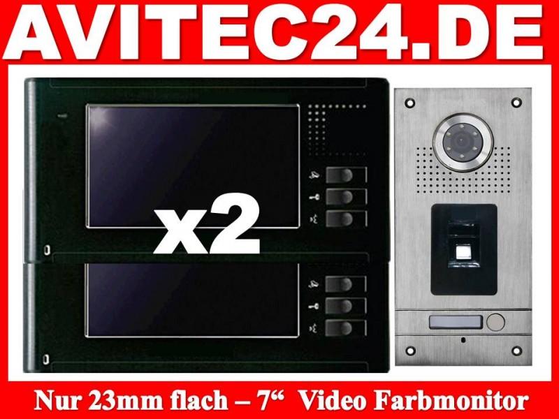 video t rsprechanlage fingerprint fingerabdruck vt56 2xvt337. Black Bedroom Furniture Sets. Home Design Ideas