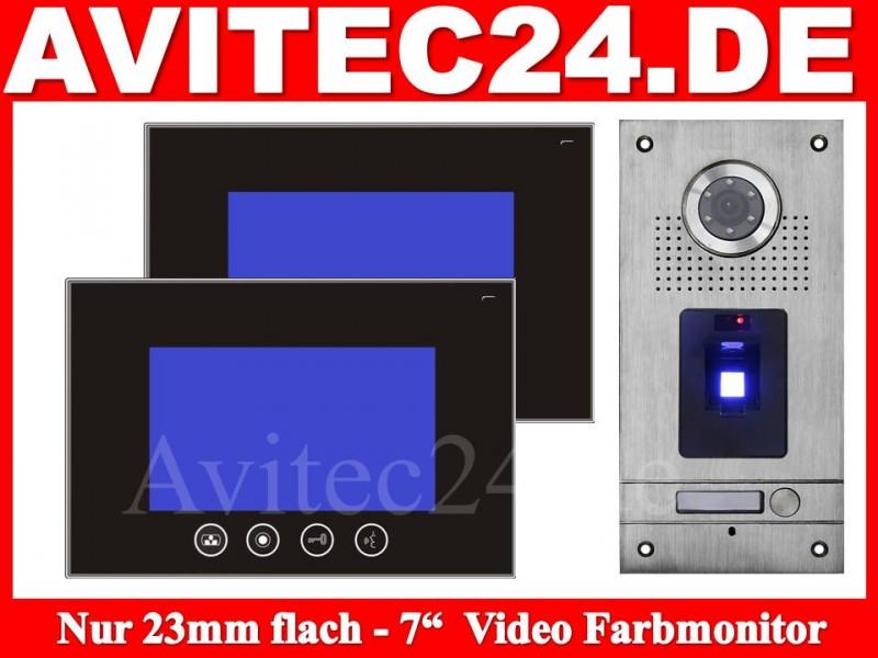 video t rsprechanlage mit fingerprint vt56 2xvt670. Black Bedroom Furniture Sets. Home Design Ideas