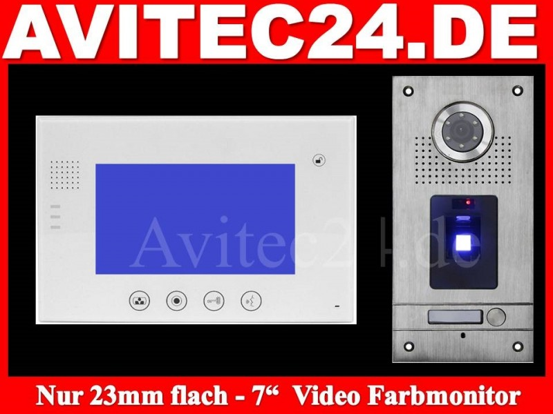 video t rsprechanlage fingerprint vt56 vt670w touchscreen. Black Bedroom Furniture Sets. Home Design Ideas